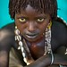 Hamer girl in Turmi village, Omo valley Ethiopia by Eric Lafforgue