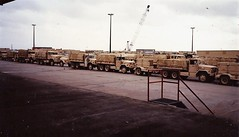 Army vehicles returned from First Gulf War