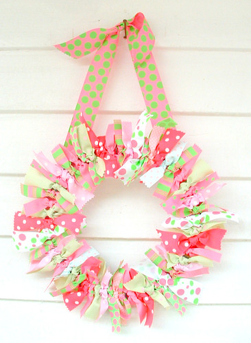 holiday rag wreath (3)