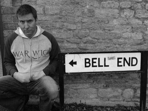 Bell end to big penis