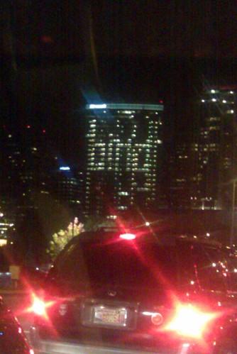 Lights on Microsoft building