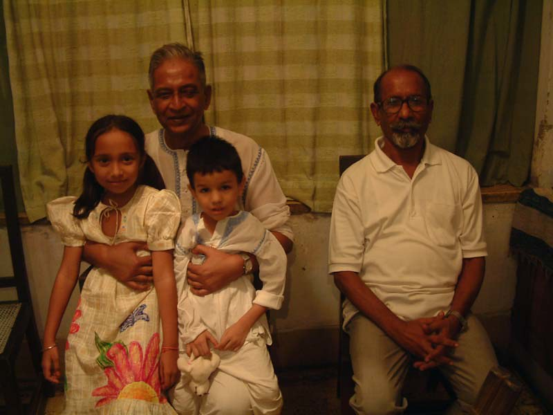 Two dadus with their grandchildren