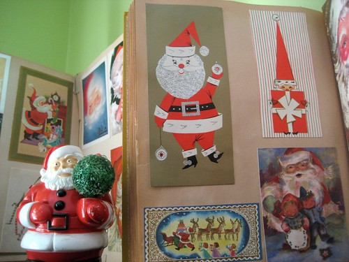 Santa Scrapbook Close up