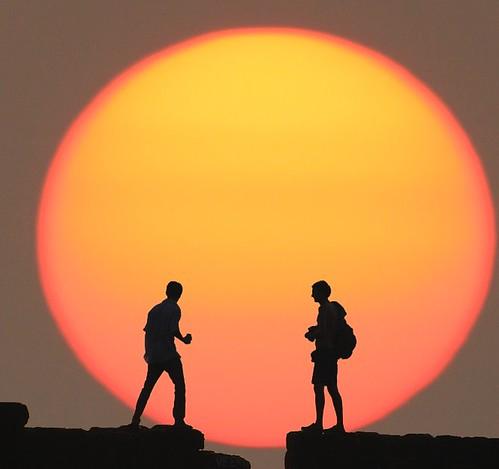 A single splendid sun -  ( Goa, India)