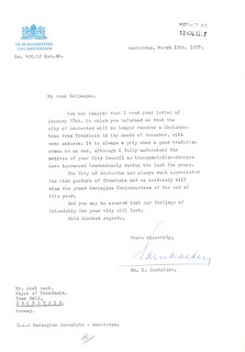 1977-03-15 - Svar på melding om innstiling av forsendelser av juletrær