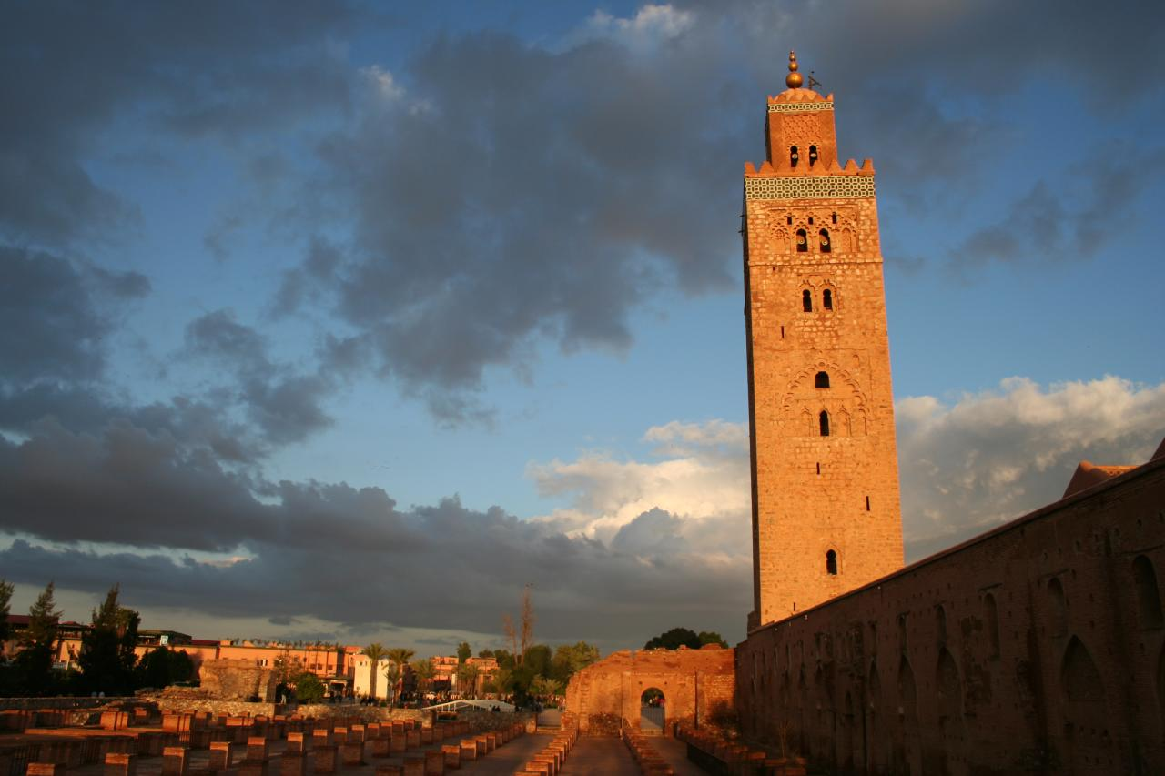 Koutoubia Mosque and Minaret in Marrakech