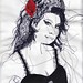 Amy Winehouse Embroidery Illustration by RosieG Embroidery