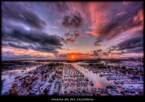 ocean california sunset usa sun color clouds sailboat landscape boat us losangeles unitedstates pacific nik hdr marinadelrey photomatix littlestories efex imagenomic picswithsoul daarklands