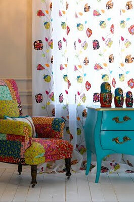 turquoise dresser and patchwork