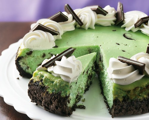 Recipe: Chocolate Grasshopper Cheesecake