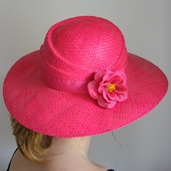 cap(0.0), flower(1.0), clothing(1.0), sun hat(1.0), hat(1.0), pink(1.0), petal(1.0), headgear(1.0),
