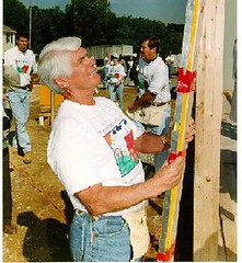Rep. Lewis building a house during the House that Congress built.