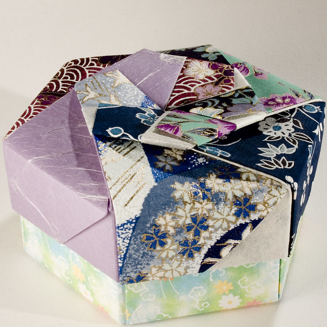 decorative hexagonal origami gift box with lid 13. Black Bedroom Furniture Sets. Home Design Ideas