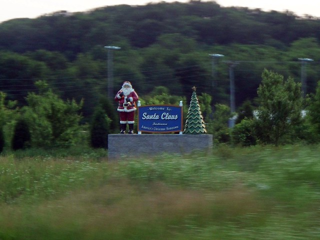 Santa Claus - Welcome Sign