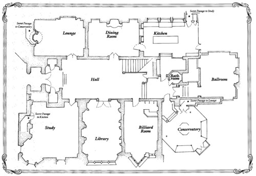 Clue cluedo discussion view for Mansion floor plans with ballroom