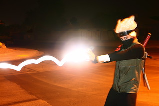 Kakashi Hatake Throwing Lighting!