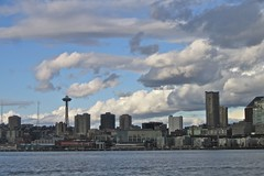 Seattle Space Needle-From Bremerton To Seattle Ferry