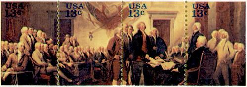 July 4 1776 Stamp Block