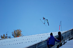 Ski Jumping in Michigan by gkretovic