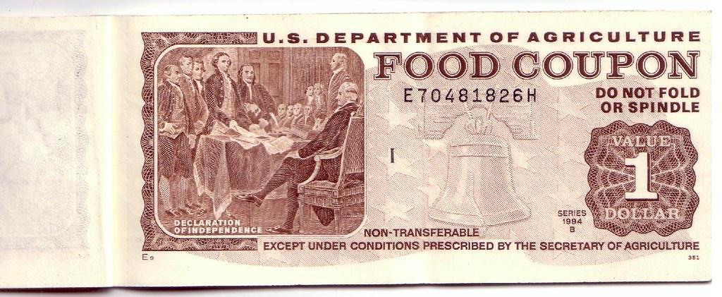 Blue Eagle 48180 Food Stamp 1 Dollar Bill Scan