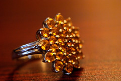 brown, ring, yellow, amber, jewellery, macro photography, close-up, gold,