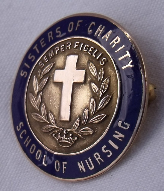 sisters of charity school of nursing graduation pin