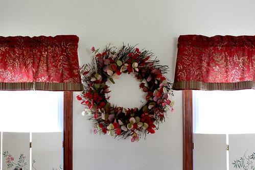 Living room wreath