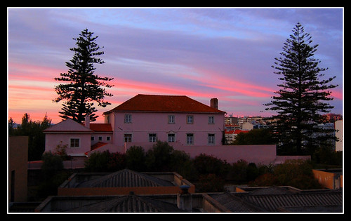 PINK SUNSET FROM MY WINDOW
