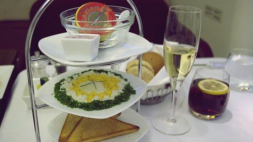 Caviar, First Class Inflight Meal - Turkish Airlines