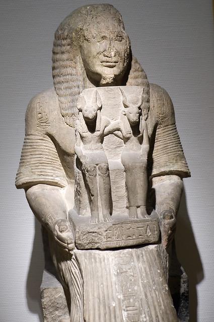 Tomb statue of Angeriautef royal writer  (Leiden RMO, Saqqara, 1250bc, 19d (Ramses II))