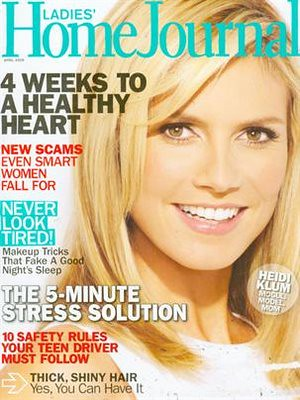 Heidi Klum Ladies Home Journal Magazine by Biilboard Hot 100
