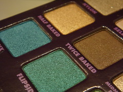 brown, glitter, green, eye shadow,