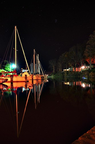 reflection marina boats bay long exposure maryland nightime sailboats calvert chesapeke flagharbor