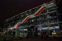 Centre Georges Pompidou at night.