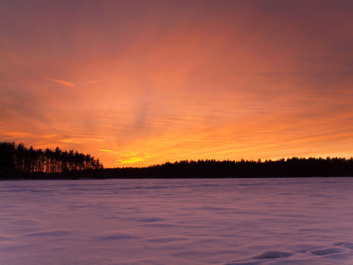 winter sunset sky lake snow cold ice clouds landscape evening frozen nh e30 zd1260