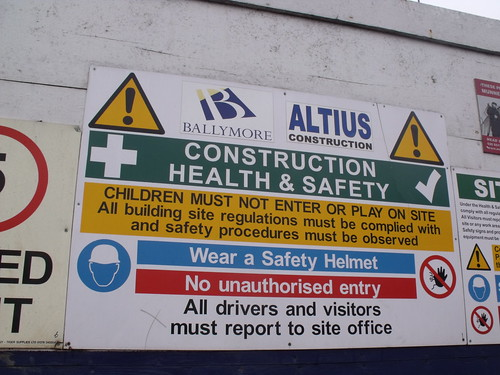 The Snowhill development - Construction health & safety - sign Medium