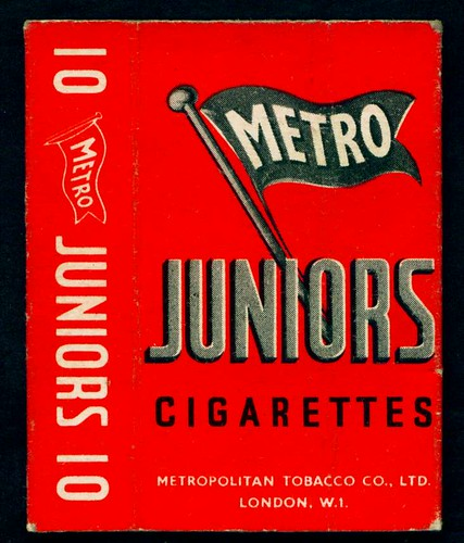 Cigarette Packet - Metro Juniors by cigcardpix