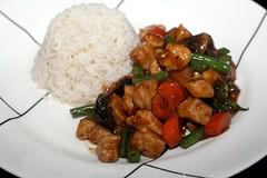 vegetable, kung pao chicken, meat, food, dish, cuisine, teriyaki,
