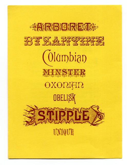 Ihlenburg typefaces 1