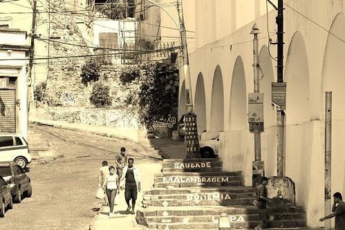 Arcos da Lapa em direção à Santa Tereza