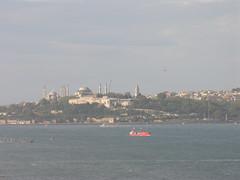 Istanbul view from the Bosporus Bridge
