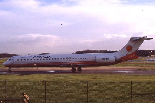 Douglas MD-83 LAC Lineas Aereas Canarias at Manchester Airport