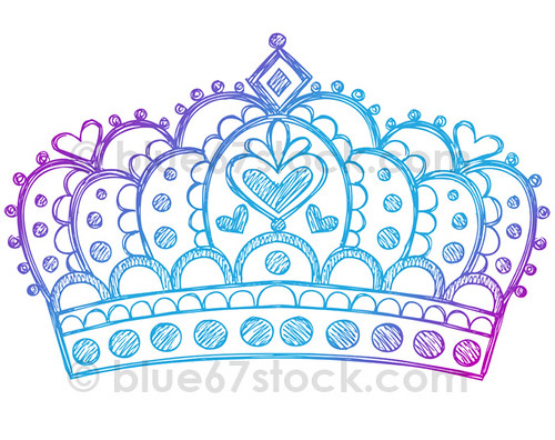 Hand Drawn Sketchy Princess Tiara Crown Doodle Drawing Princess Tiara Drawing