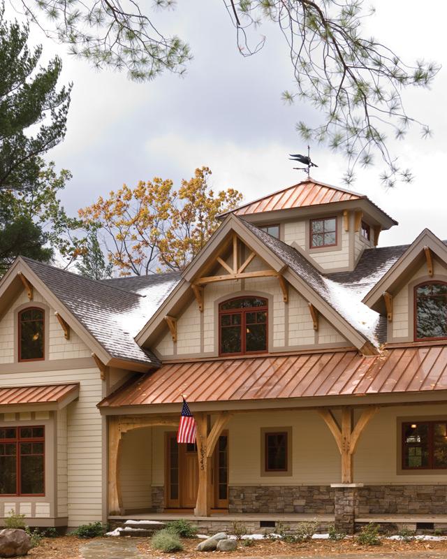 Timber Treasure Timber Frame Home Exterior Porch A