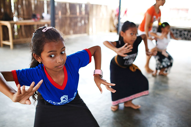 Dance lesson - Bali, Indonesia