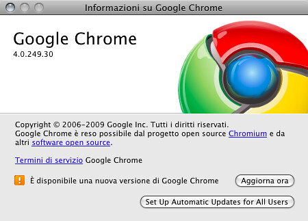 Google Chrome Beta for Mac - È disponibile una nuova versione