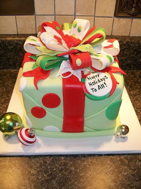 Christmas present cake Christmas present cake Flickr ...