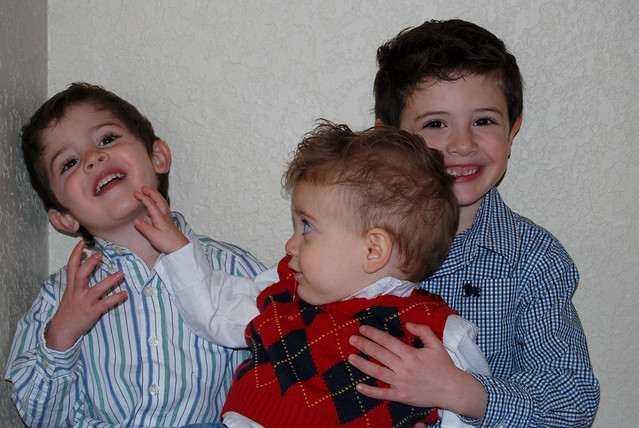 Christmas Eve-photo attempt of the 3 boys