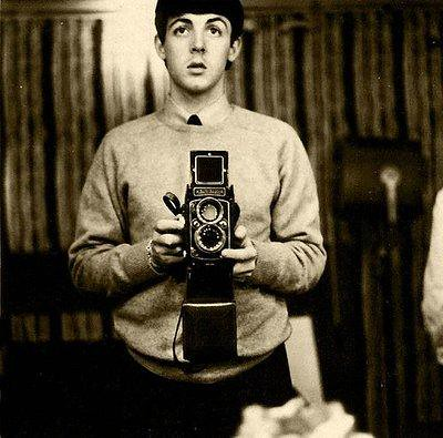 Paul McCartney Rolleiflex self portrait