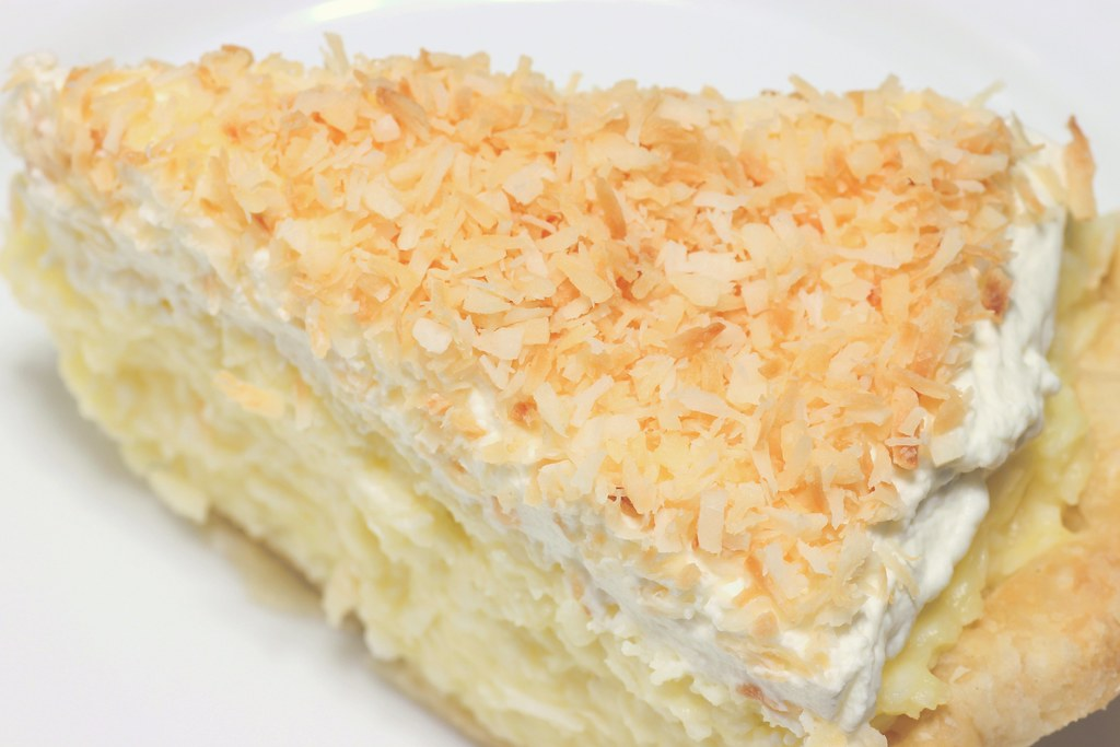coconut creme pie commercially prepared, cream